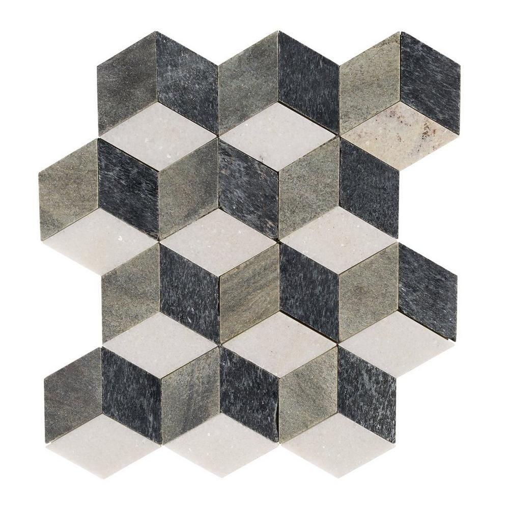Modern Geo Slate Mosaic 12in X 100341643 Floor And Decor