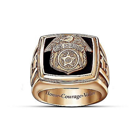 Police ficer Gold Ring