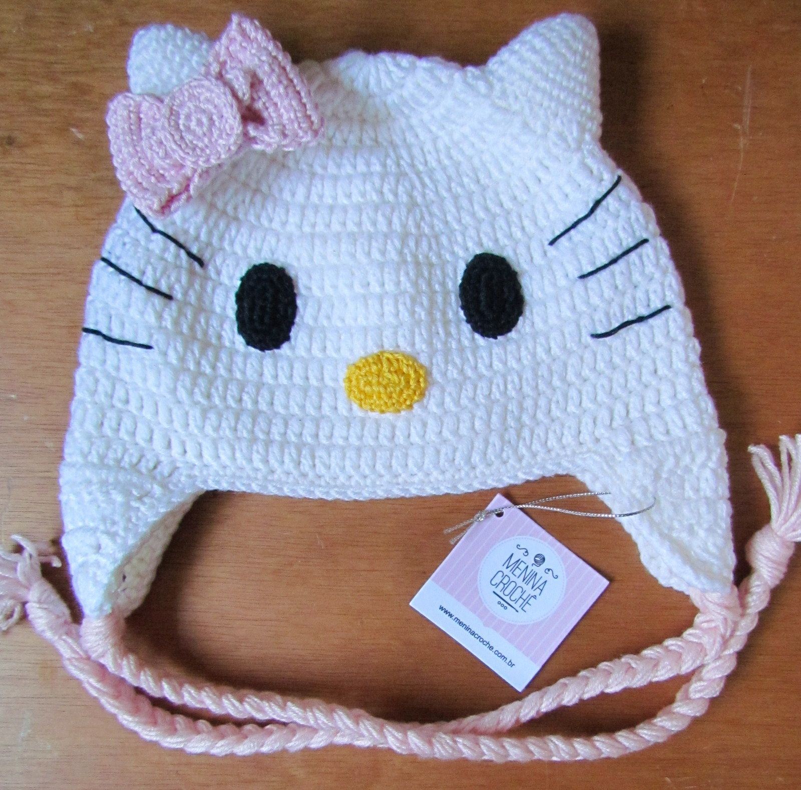 Touca crochê Hello Kitty | Toucas | Pinterest | Häkelmützen, Mütze ...