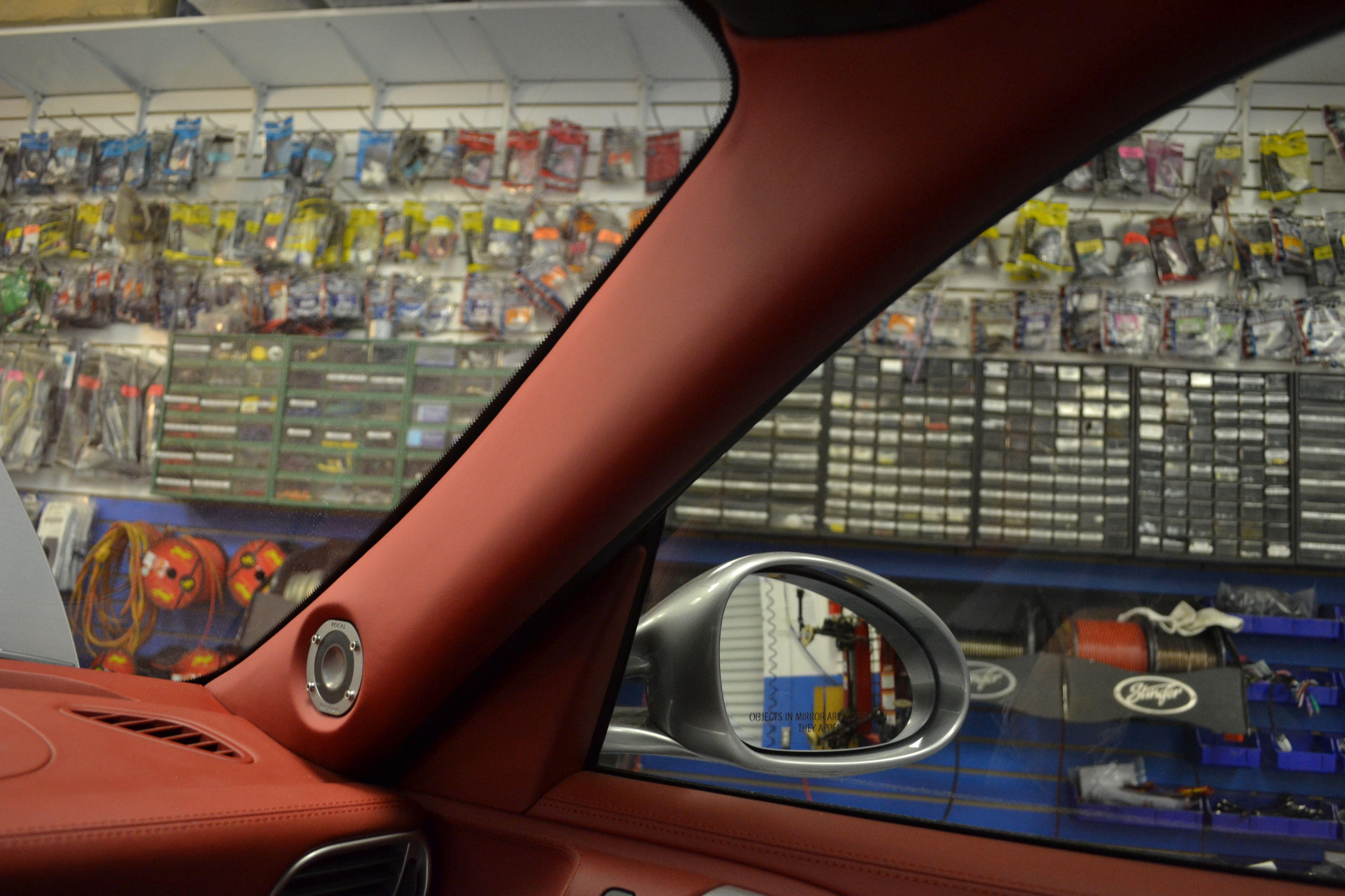 Porsche 911 turbo s 2012 focal utopia tweeter in custom a pillar