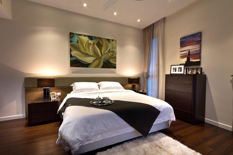Bedroom; Lights, wood, and that parquet flooring Déco