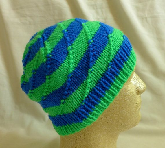 Carnival Ride  Med/Lg beanie with stripes of by PurlyShells808, $17.00