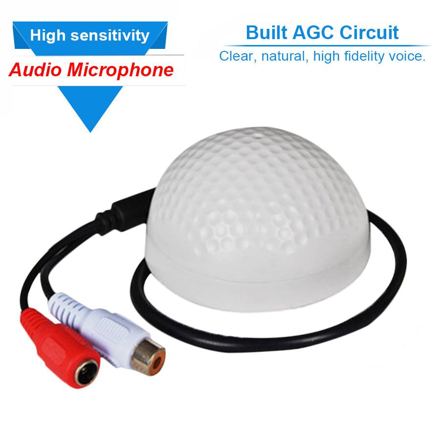 CCTV Security System Waterproof Audio Monitoring Mic Microphone Sound Pickup