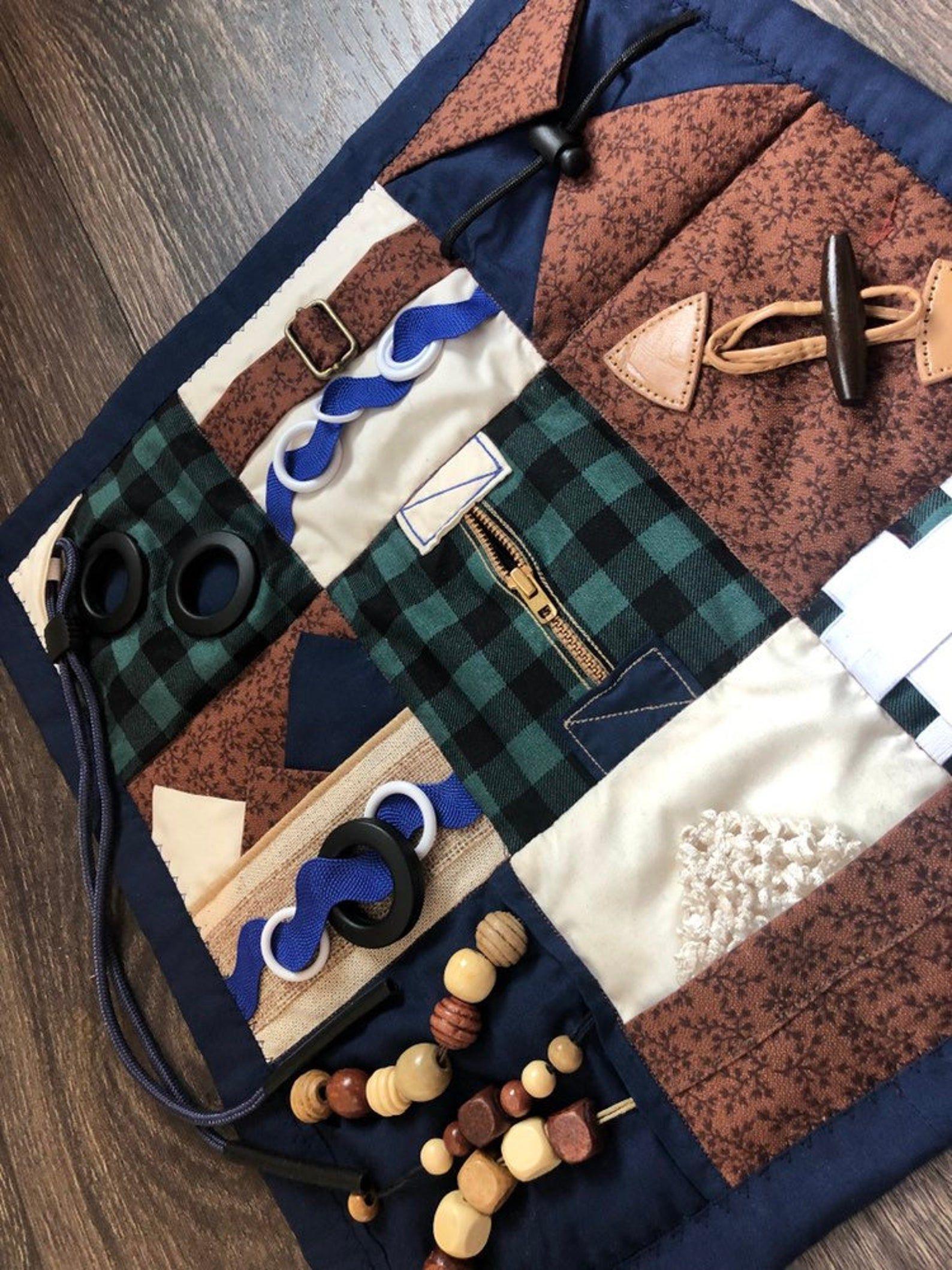Fidget blanket busy blanket friget quilt sensory quilt