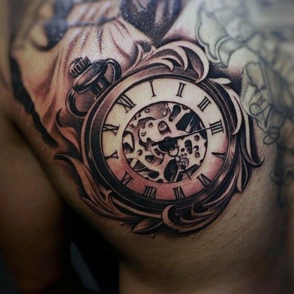 Image Result For Old Clock Design Tattoos Pocket Watch Tattoo
