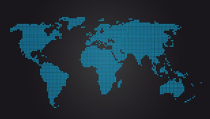 World map vector graphic180491g 728414 pinterest world map vector graphic180491g 728414 gumiabroncs Images