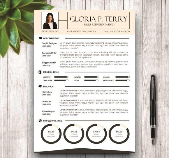 Resume Template \ Cover Letter Cv template and Fonts - resume personal skills