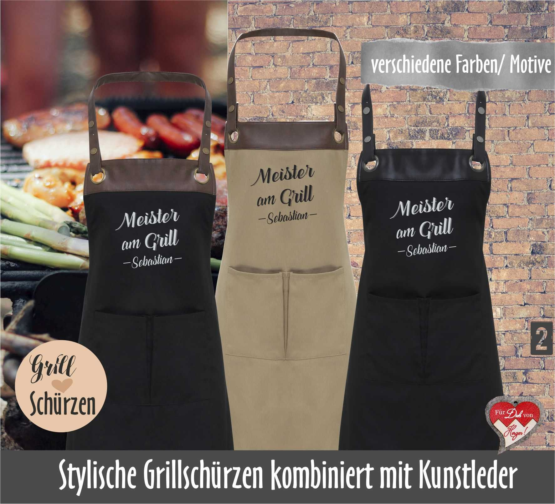 Personalized Barbecue Apron Apron With Name Custom Birthday Gift For Men Geburtstagsgeschenk Mann Coole Geschenke Für Männer Grillschürze