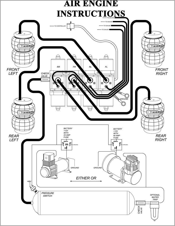 Compressor Installation Instructions Airbagit Com Three Wheel Bicycle Futuristic Motorcycle Vw Touareg Pedal Cars Automotive Mechanic Air Ride Car Mechanic