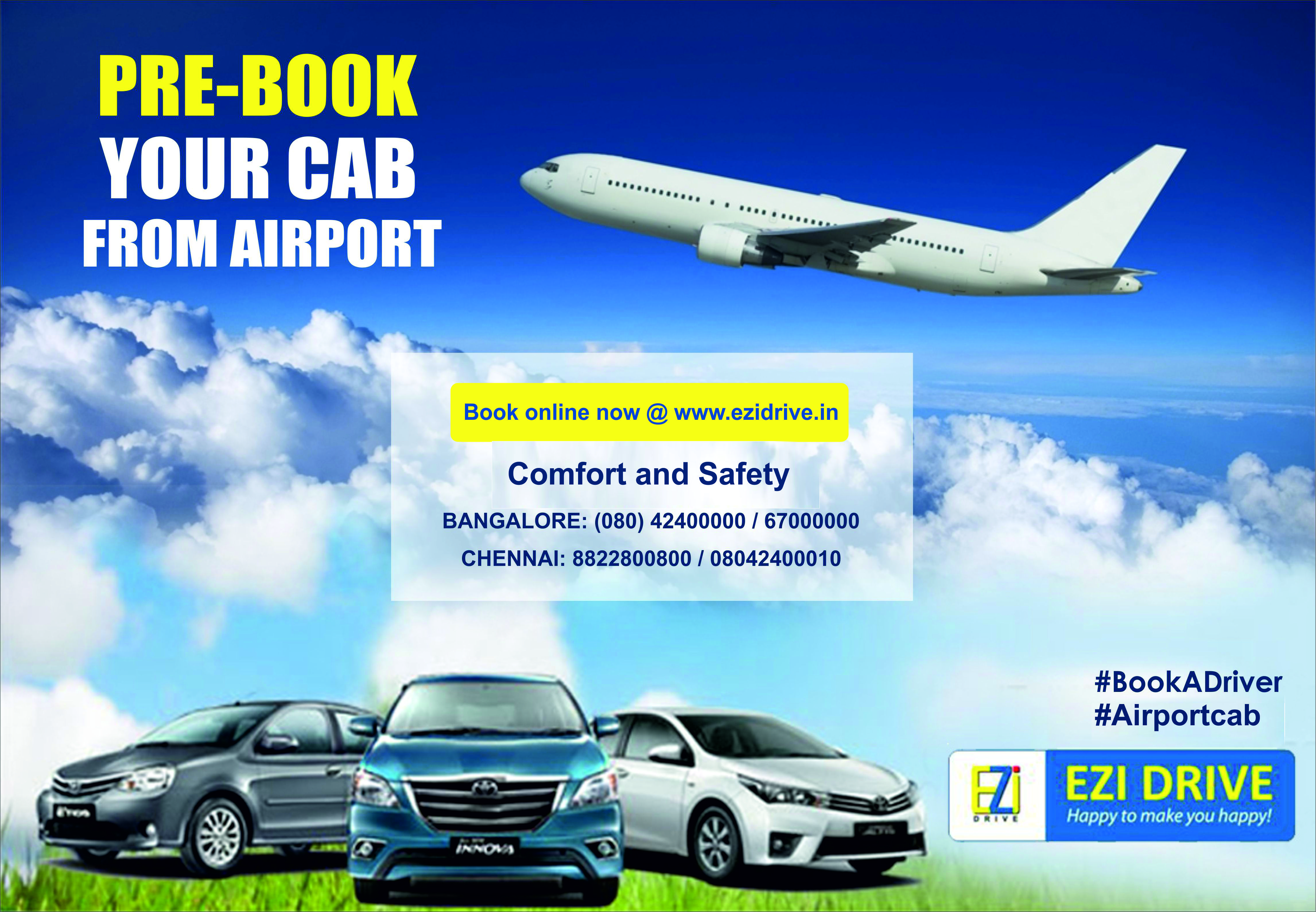 EziDrive provides safe & secure airport transfers at