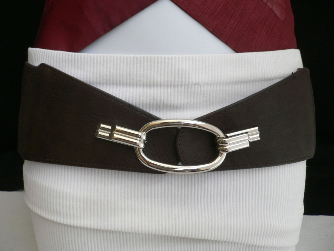 "17.63$  Buy here - http://vikul.justgood.pw/vig/item.php?t=jriuqu2071 - New Women Belt Fashion Waist Hip Elastic Dark Brown Ring Buckle 28""-36"" S M L"