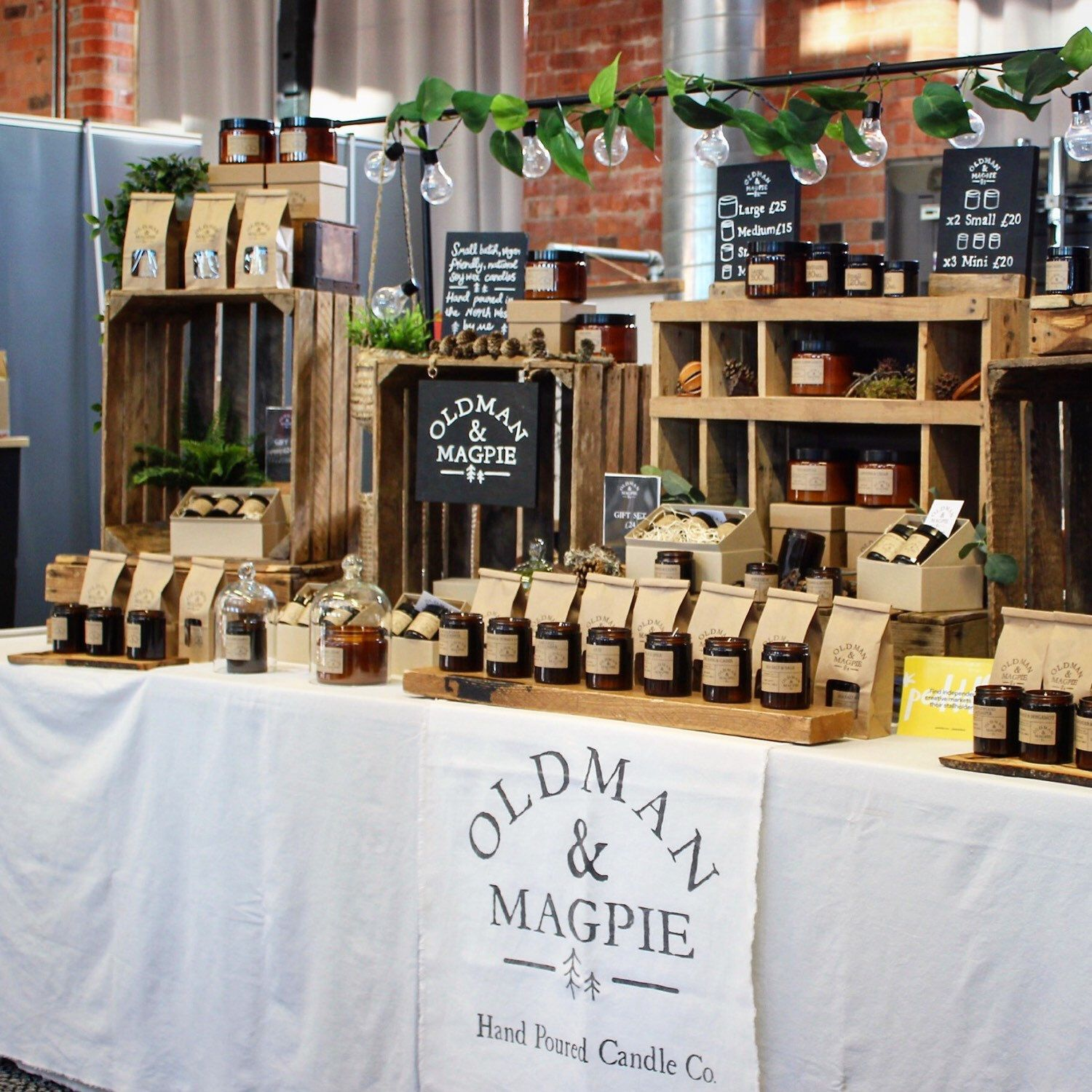 Oldmanandmagpie Shared A New Photo On Etsy In 2020 Candle Booth Display Candle Displays Candle Booth
