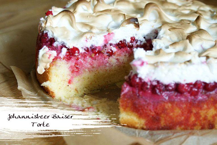 Johannisbeer Baiser Torte