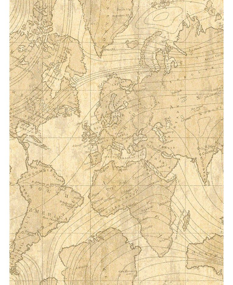 Vintage World Map Wall Mural 2 32m X 3 15m Map Wallpaper