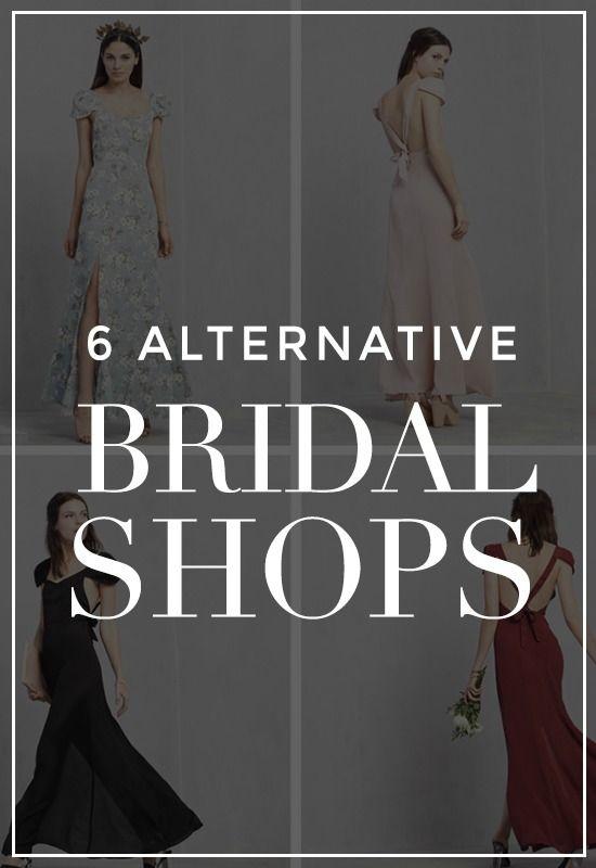 6 Alternative Bridal Shops to Make Your Wedding Cool #bridalshops