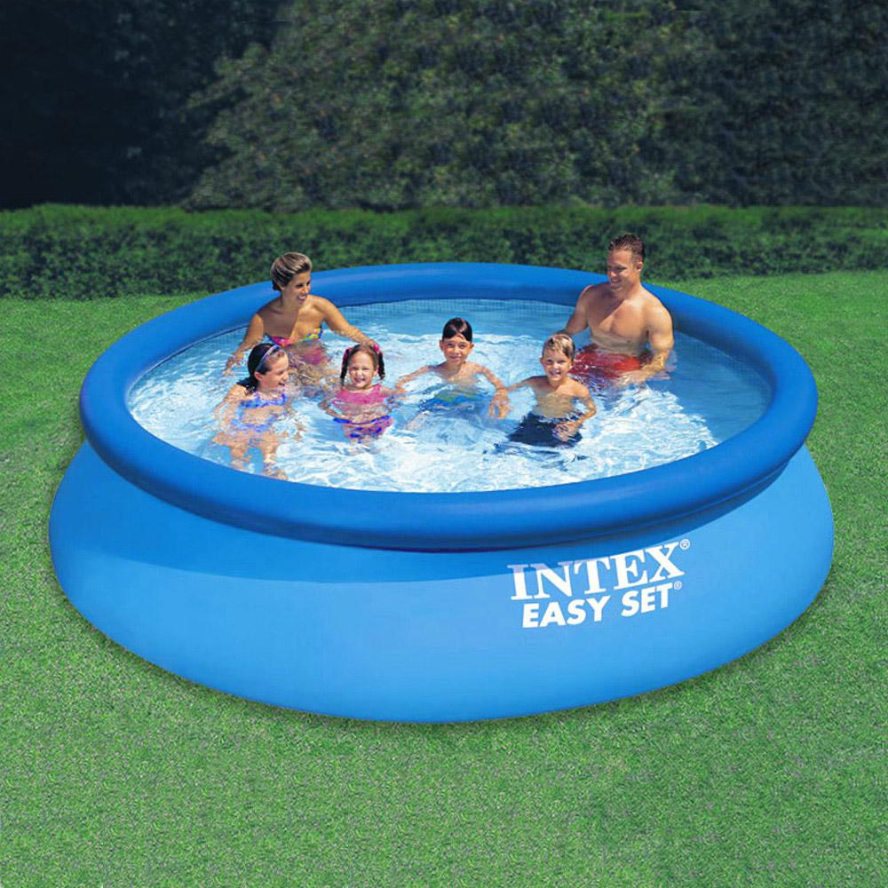 Intex 12 ft. Round 30 in. Deep Easy Set Swimming Pool with