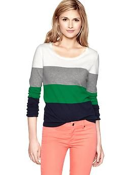 Colorblock crewneck sweater | Gap
