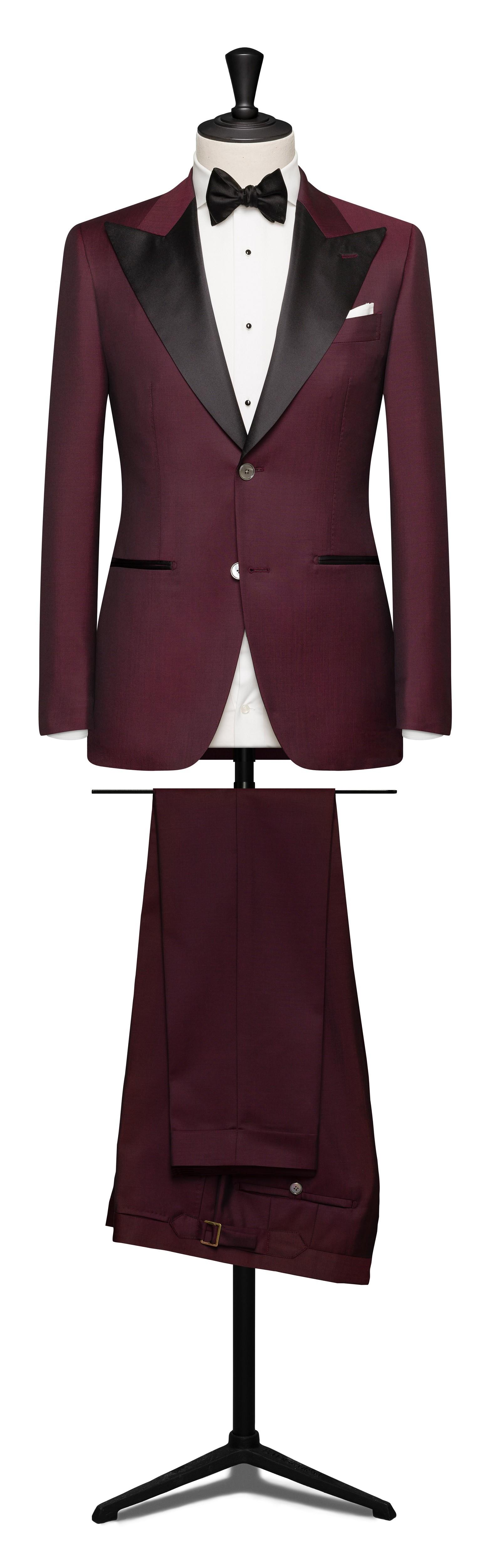 Ultimate burgundy wedding dinner suit