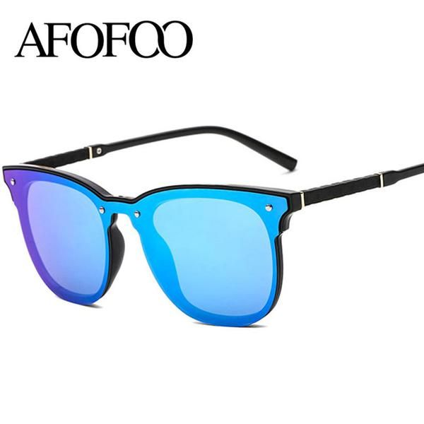 FASHION  NEW AFOFOO New Sunglasses Fashion Brand Designer Women Square  Coating Mirror Sun glasses Men UV400 Shades Eyewear Oculos de sol e5d80085edbed