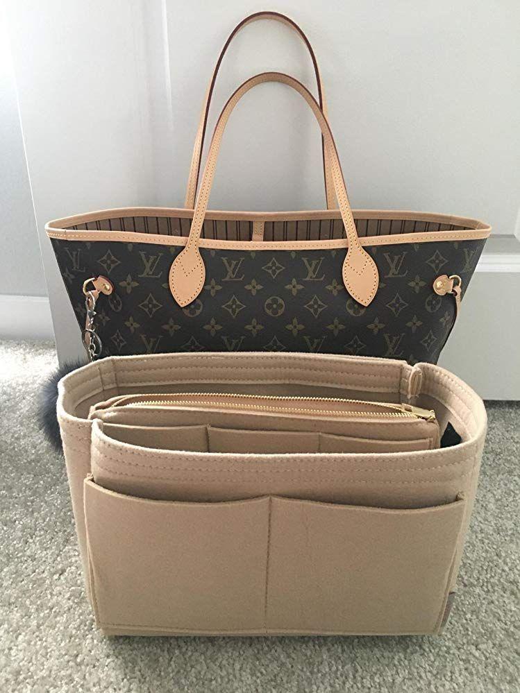 Multi-Pocket Insert Bag Felt Fabric Purse Handbag Organizer for LV Neverfull USA