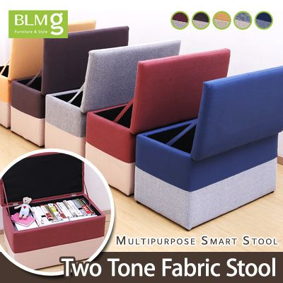 [S$41.90][Chinese New Year/CNY][Storage Type] Two tone Single/Double Cube Stool★Storage Box★Ottoman★Furniture★Fabric★Local Seller★Local Delivery