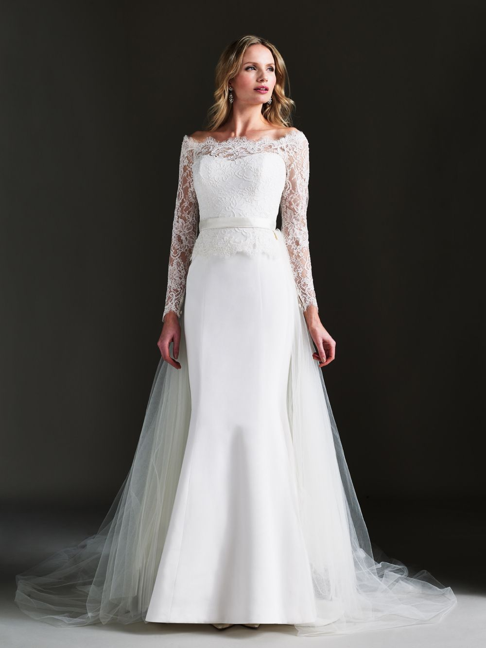 January Wedding Gown With The Kylie Train And Malaysia Shrug