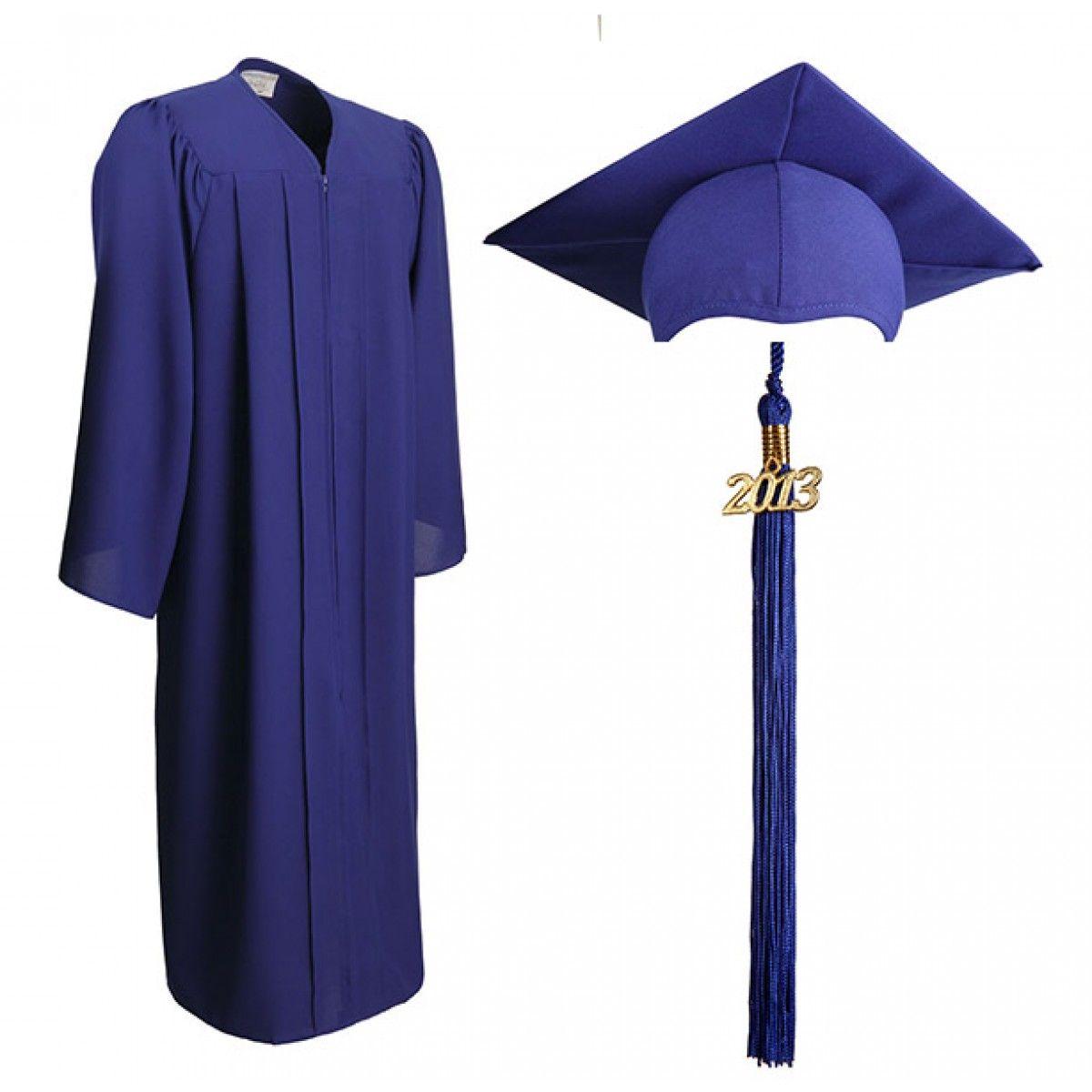 Matte Royal Blue Cap, Gown & Tassel | GraduationSource Products ...