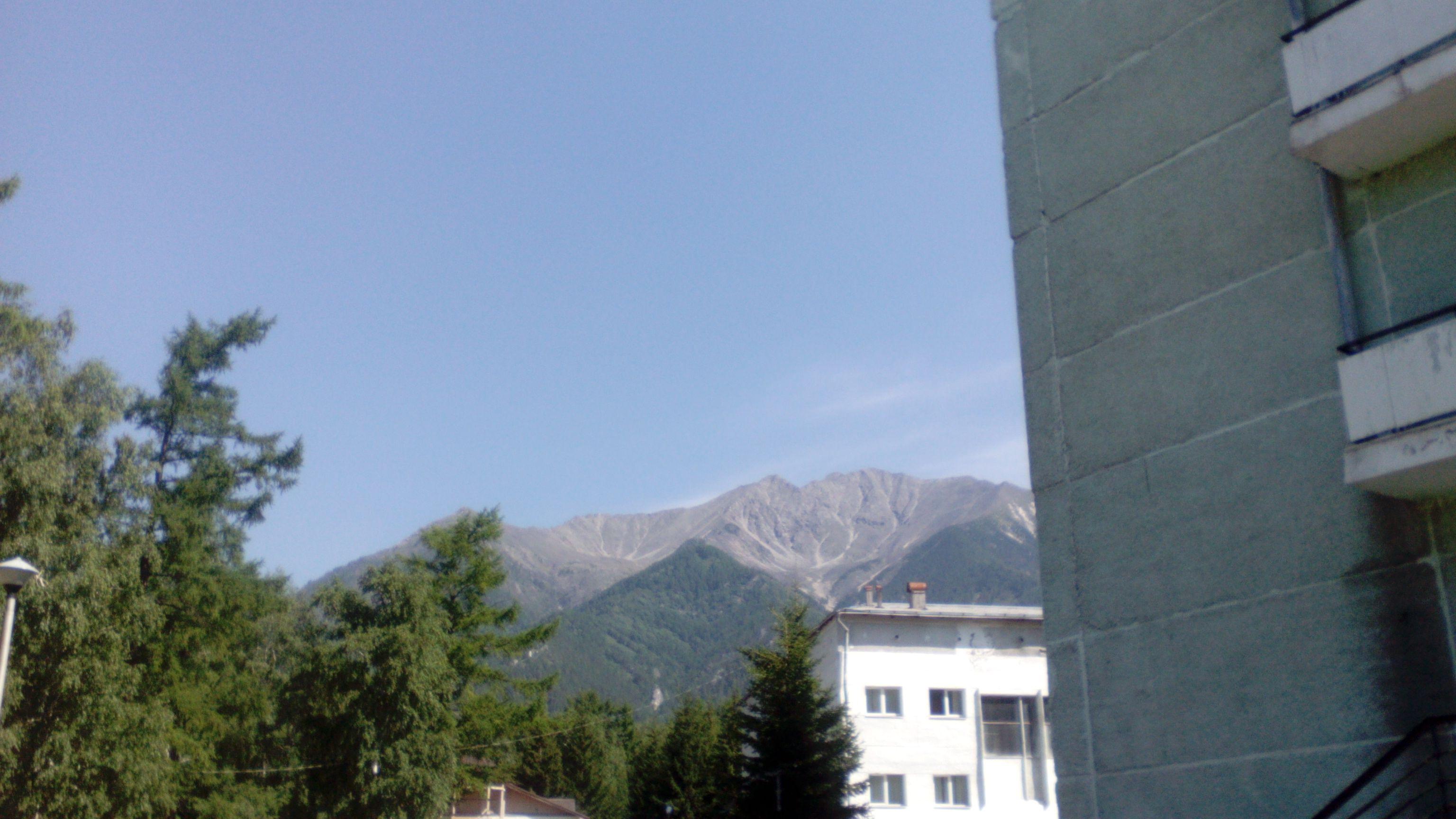 Вид на горы в Аршане