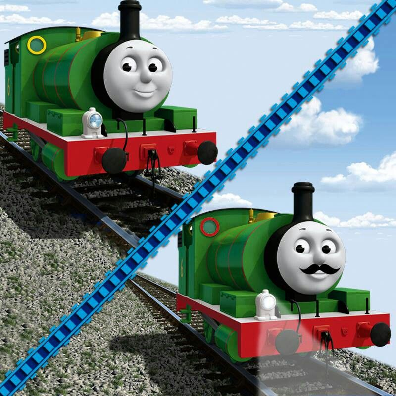 Percy With Mustache Thomas And Friends Thomas Character