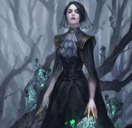 The Necromancer Long Hair Abstract Dark Trees Undead