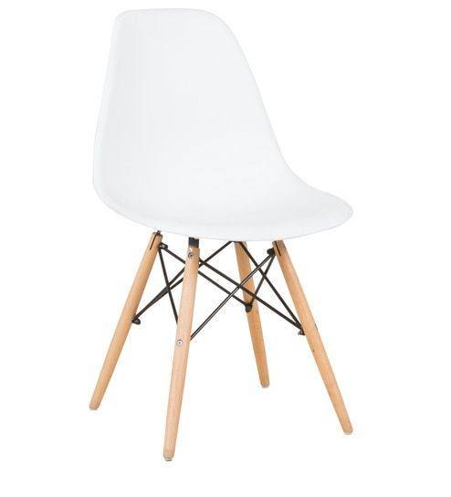 Magnificent Eames Replica Iconic Chair In White Colour By Star India Creativecarmelina Interior Chair Design Creativecarmelinacom