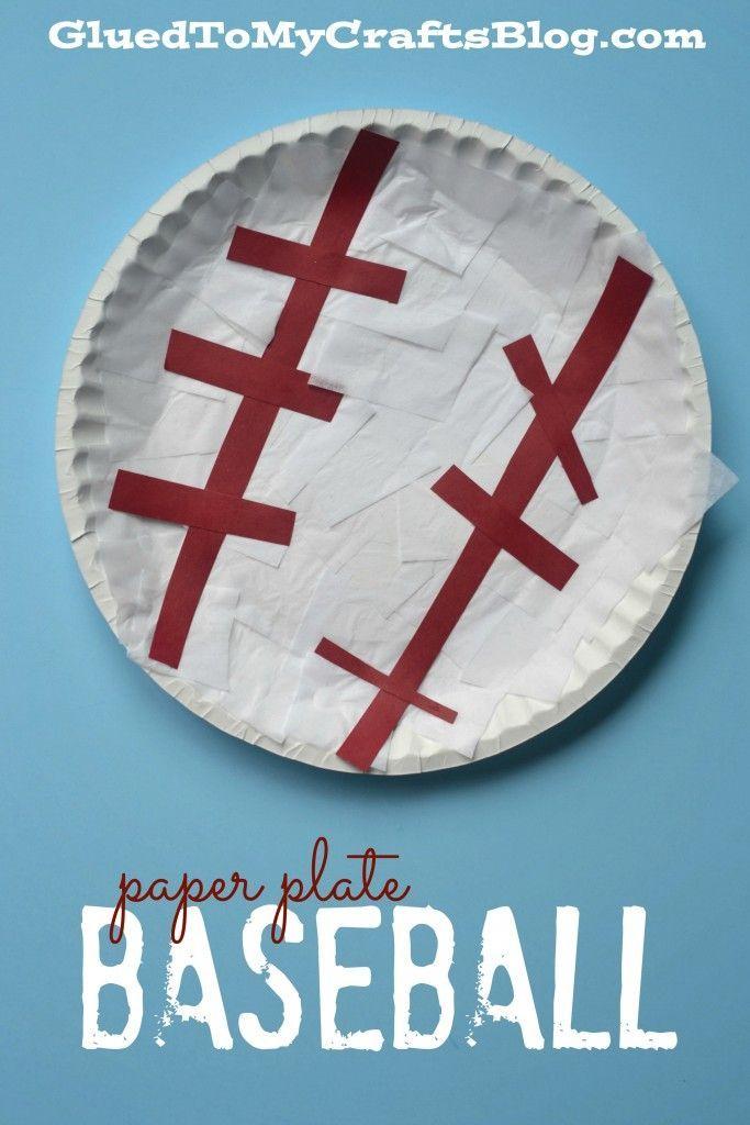 Paper Plate Baseball Kid Craft Sport Art Projects Sport Craft Preschool Crafts