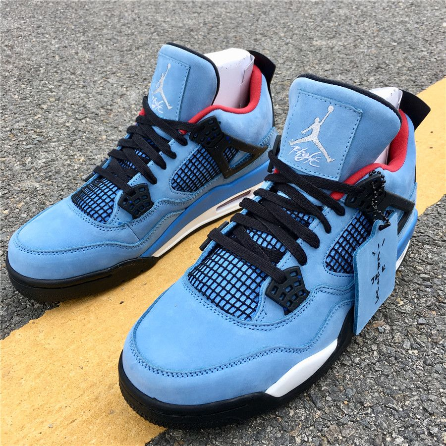 Travis Scott X Air Jordan 4 Cactus Jack Houston Oilers 308497 406