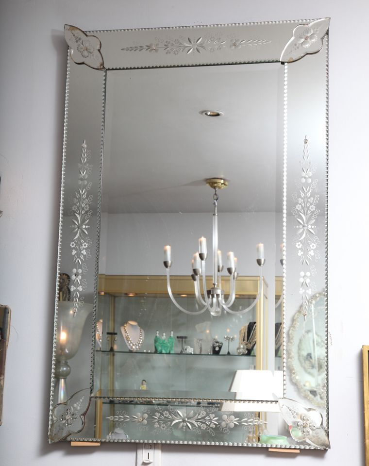 Vintage Mirror Etched Like This But Bigger In 2019