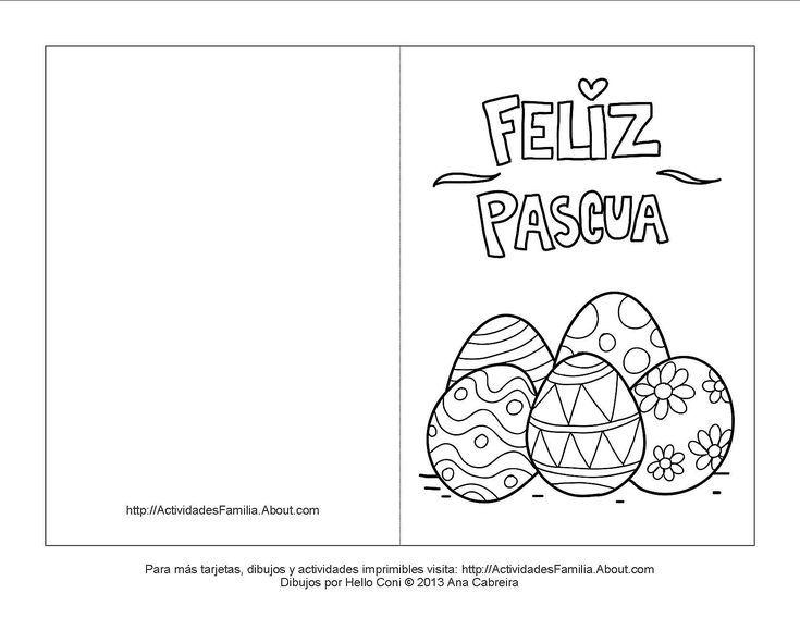 Tarjetas De Pascua De Resurrección Para Colorear Tarjeta De