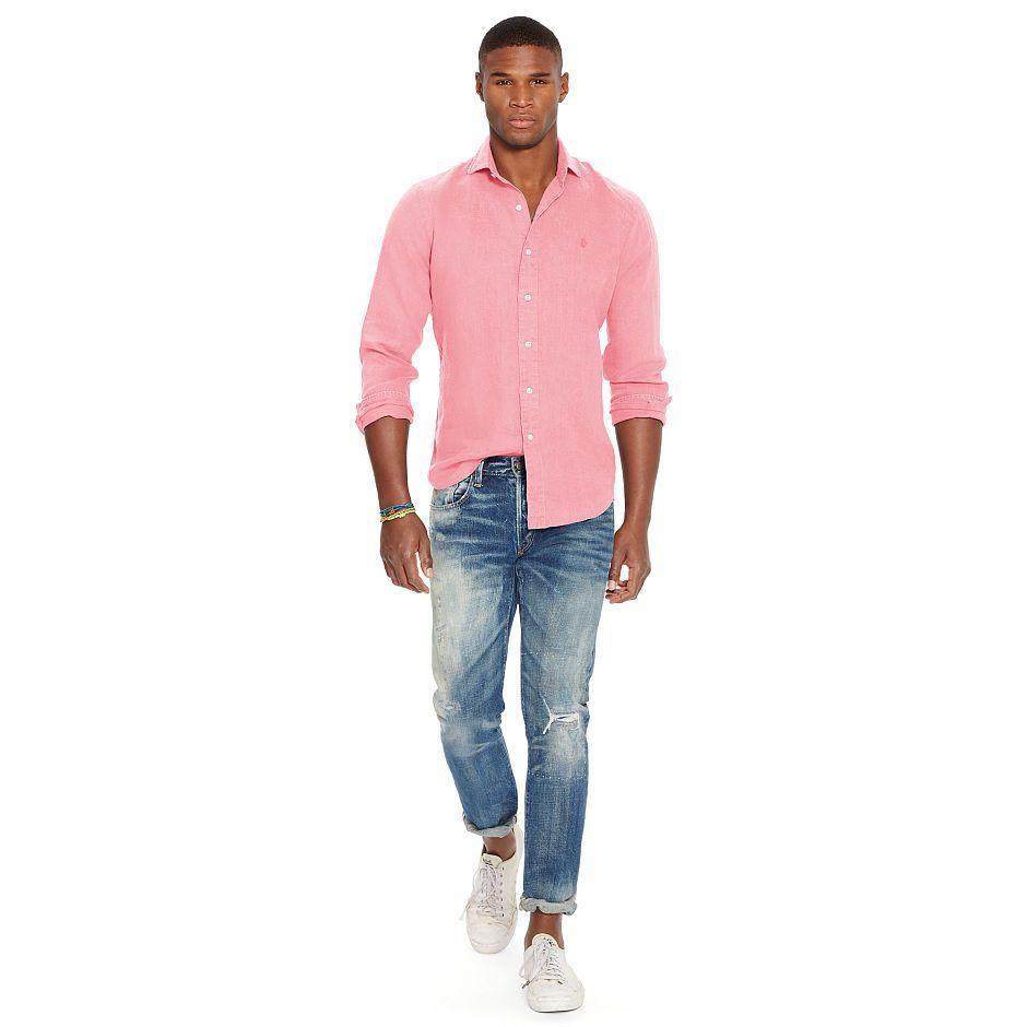Slim-Fit Linen Shirt  9977a9f004
