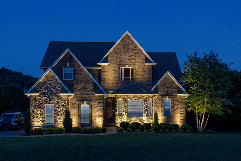 Exterior Accent Lighting Wild Outdoor Services Light Up Nashville