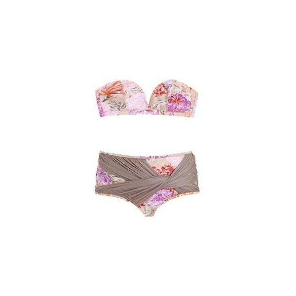 Separates Charmer Twist Bikini Top ($72) ❤ liked on Polyvore featuring swimwear, bikinis, bikini tops, swimsuits, bathing suits, swim, women, halter swimsuit, swimsuits two piece and halter bikini top