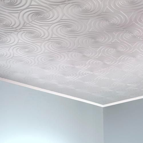 Fasade Typhoon 2 X 2 Pvc Glue Up Ceiling Tile At Menards Ceiling Panels Ceiling Tiles Ceiling Tile