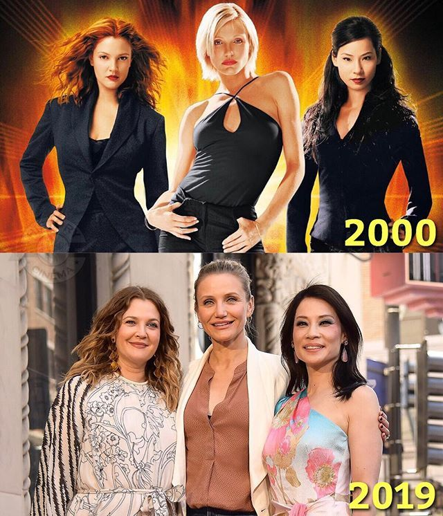 Charlie S Angels Drew Barrymore Cameron Diaz And Lucy Liu Reunited After 19 Years Of The Original Movie Los Angeles De Charlie Estrellas De Cine Liu