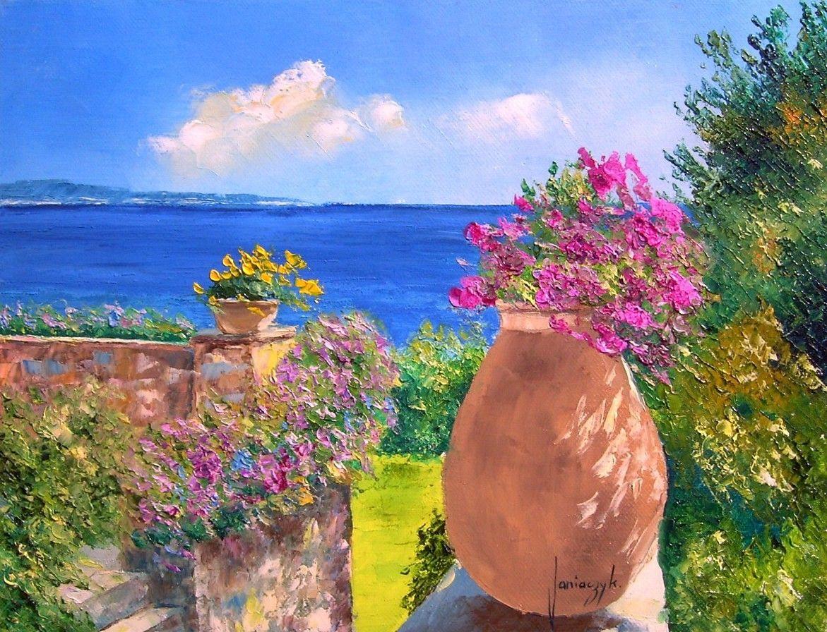 Jm janiaczyk the flowery terrace inspiring art for Terrace nature