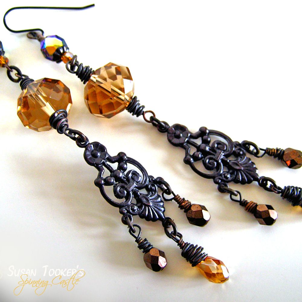 victorian charm earrings are a new design with a touch of fairy