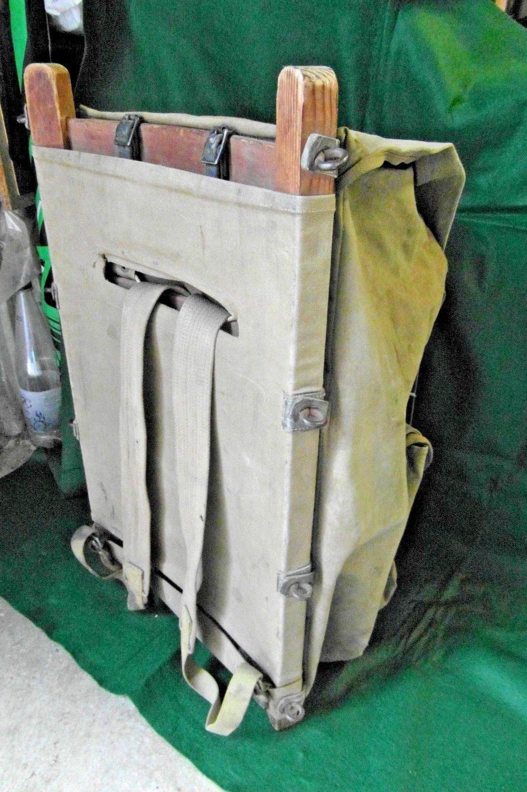 f63fa4f9ef0 Rare WW2 YUKON British Backpack with Wooden Frame   eBay   Cool ...