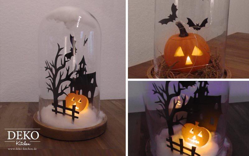 diy halloween spukhaus unter einer glasglocke deko kitchen halloween pinterest. Black Bedroom Furniture Sets. Home Design Ideas
