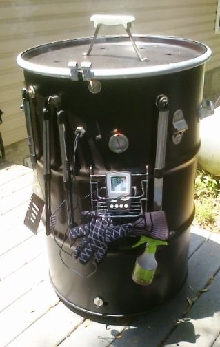 ugly drum smoker photo gallery page 13 the bbq brethren forums drum smokers pinterest. Black Bedroom Furniture Sets. Home Design Ideas