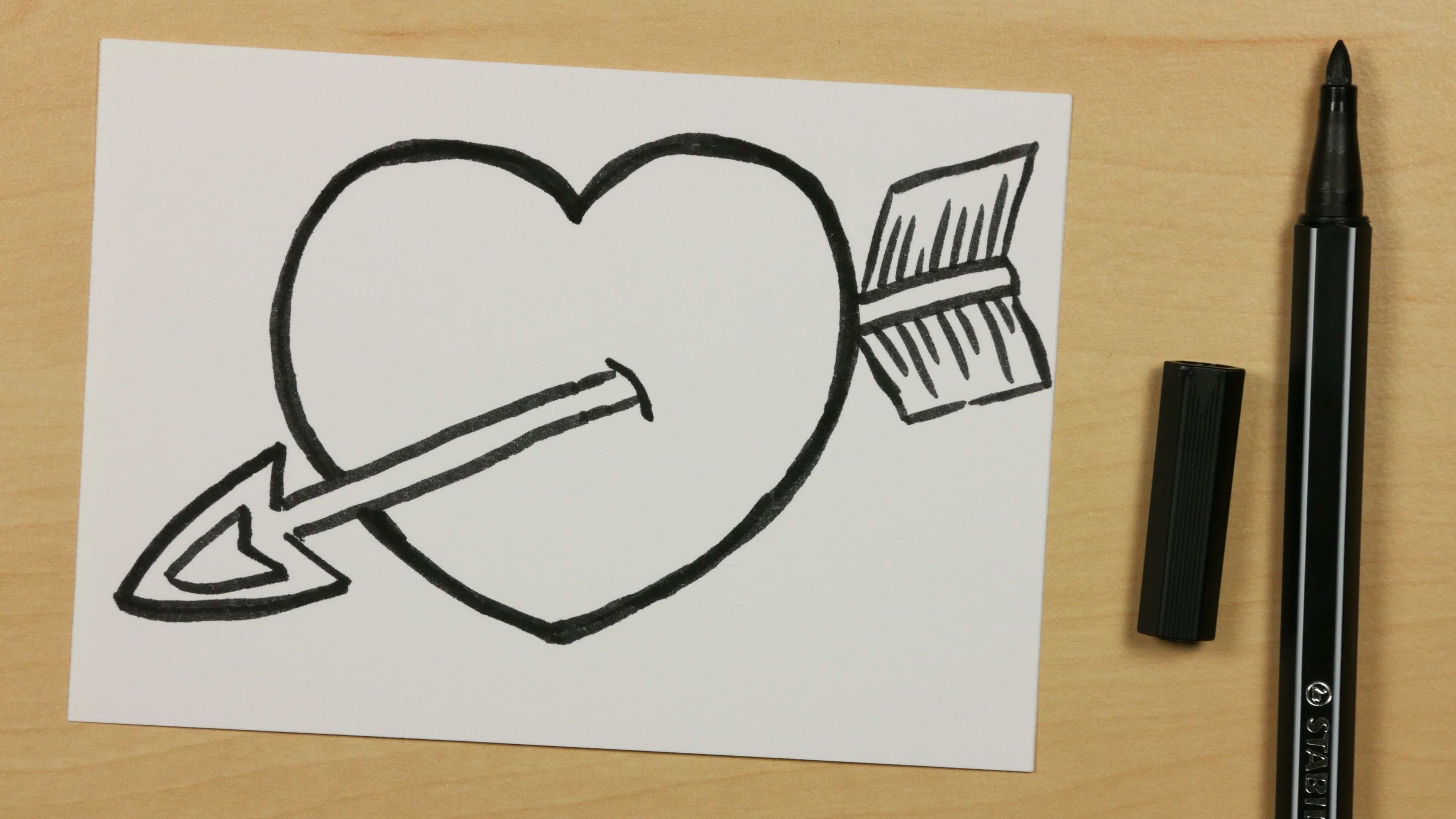 How To Draw A God Cupid Arrow Heart Easy Cartoon Doodle For Kids 118 Https Youtu Be Frrw9a Ncks S Easy Love Drawings Easy Drawings Cute Easy Drawings