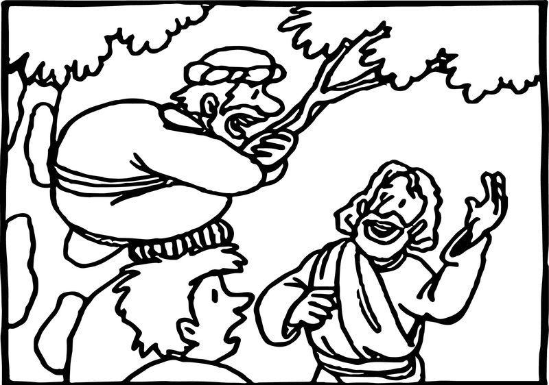Zacchaeus Jesus Help Coloring Page Di 2020