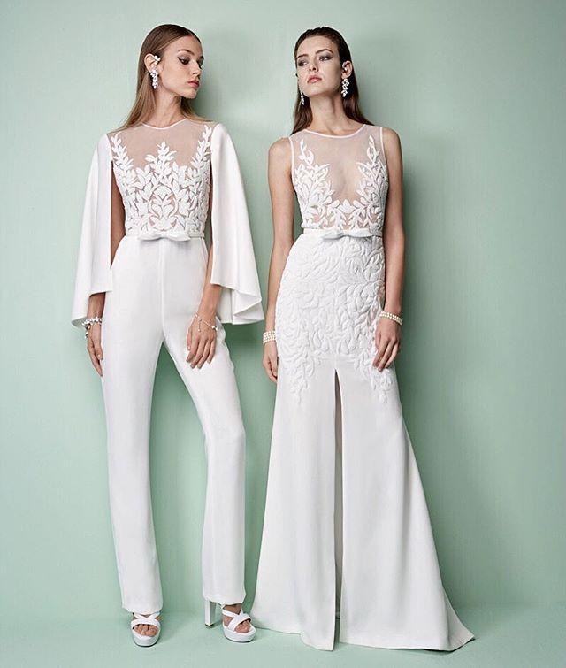 Sea-ing white! This fabulous fashion pair takes GEORGES HOBEIKA Ready-to-Wear to a whole new level...#georgeshobeika #rtw #paris