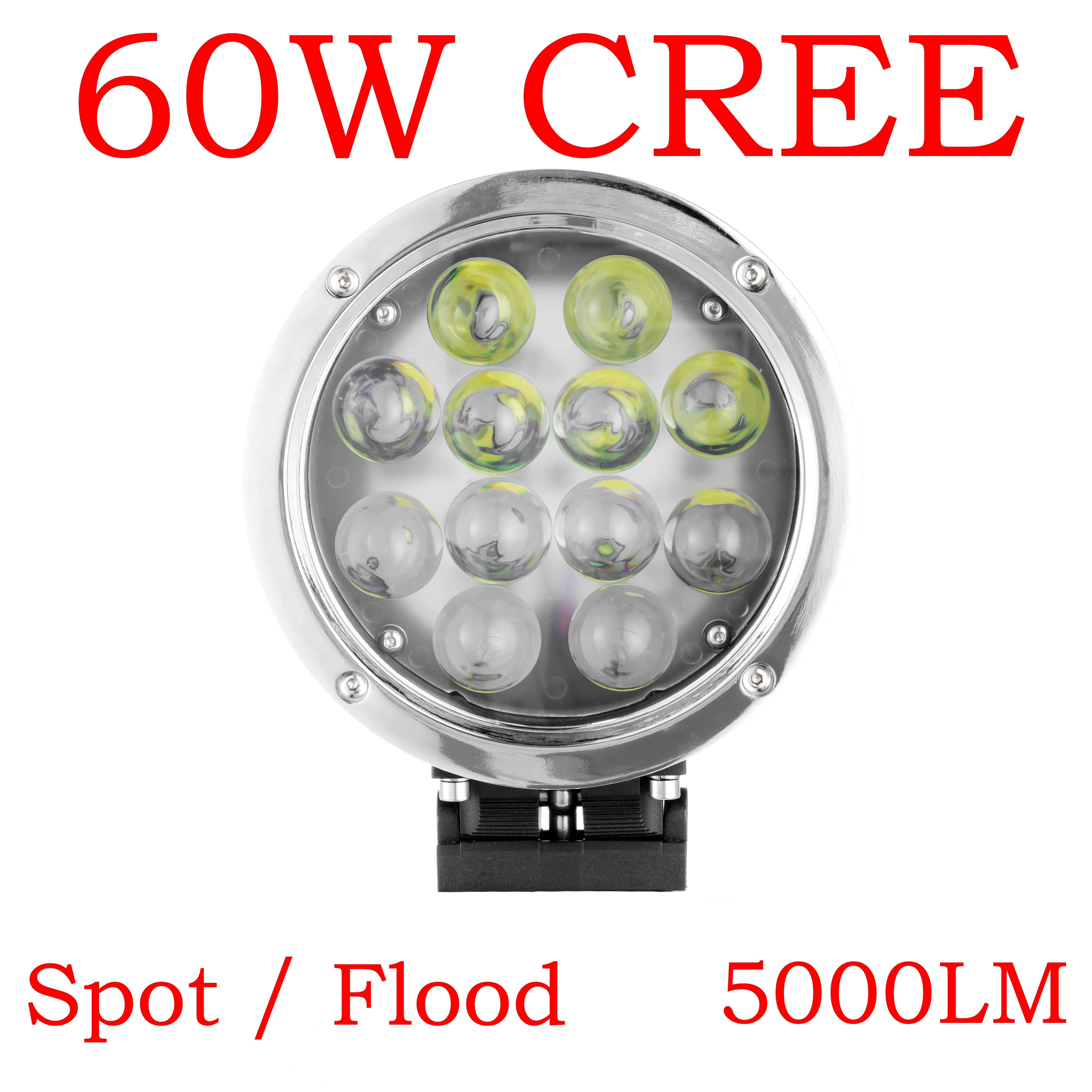12v 24v 60w Cree Led Working Light Spot Flood Lamp Motorcycle Tractor Truck Trailer Suv Jeep Off Road Headlight Floodlight Led Work Light Cree Led Work Lights