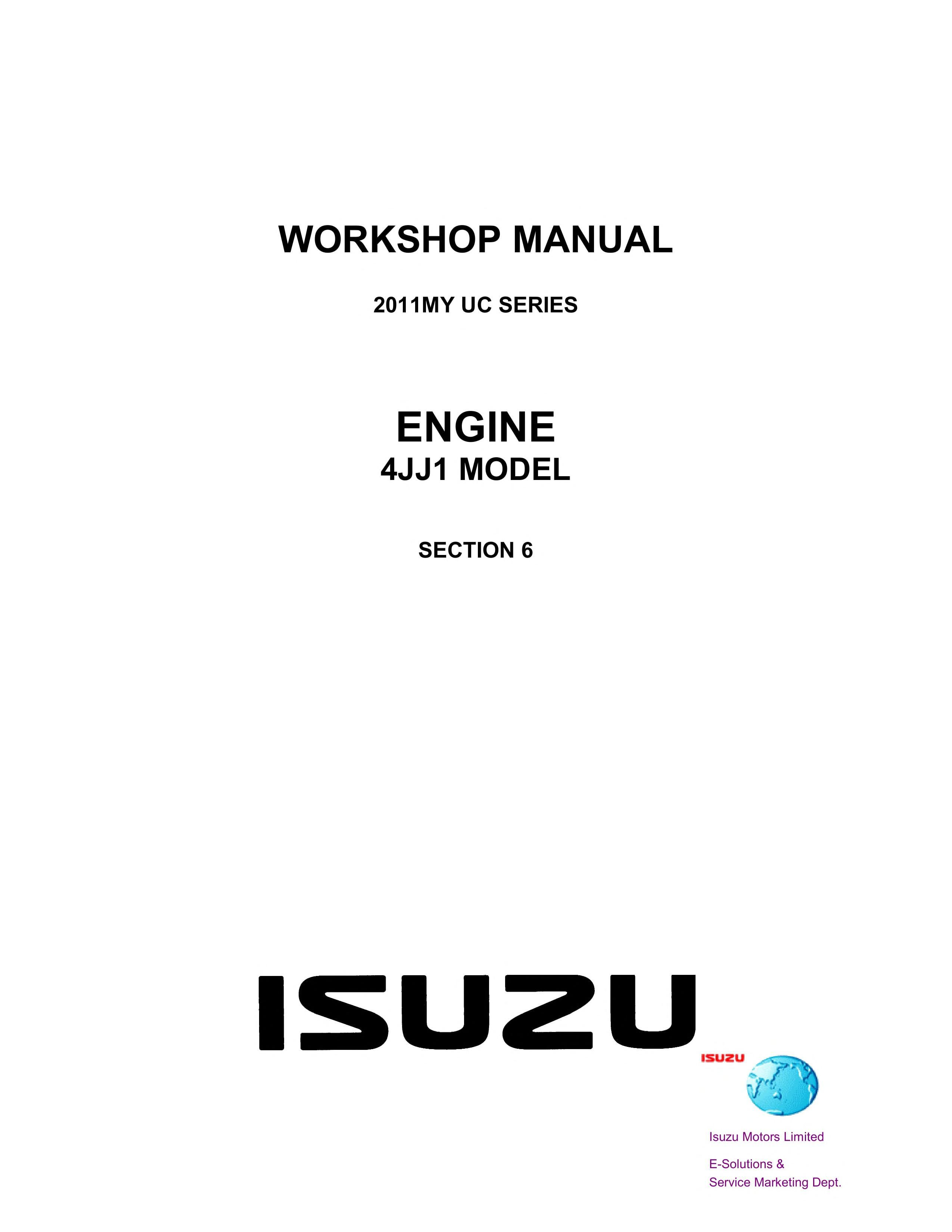 ISUZU D-MAX 2011 4JJ1 ENGINE SERVICE MANUAL.pdf (PDFy mirror) Isuzu